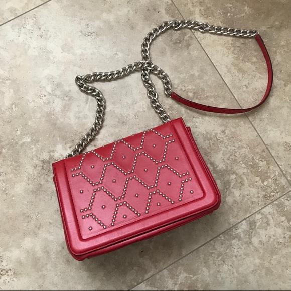 Zara Handbags - ZARA red crossbody purse